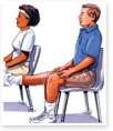 Sitting-Supported Knee Bends